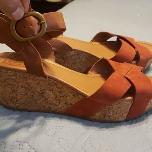 Lucky brand cork wedges size 9